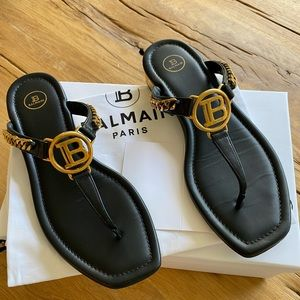Balmain Black Presley Sandal